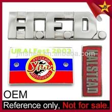 Wholesale Chrome Metal Custom Logo Car Badge Emblem