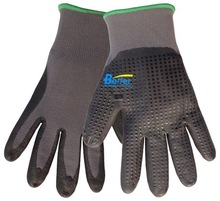 15G Nylon Nitrile Foam wholesale work gloves nitrile dots