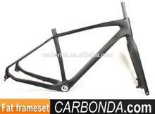Chinese OEM full carbon fat bike frame,26er fat mountain bike carbon fiber bicycle frames