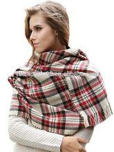 Elegant Plaid Pattern Thicken Warm shawl Scarf