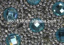 Hot fix adhesive glass rhinestone trimming 24*40cm