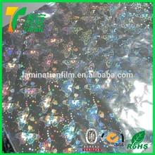 EVA Hot Melting Extrusion Holographic Film Iridescent Plastic Film / Holographic Laminating Thermal Film