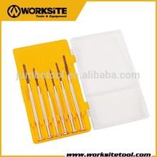 WT8011 Worksite Brand Hand Tools 6Pcs Precision Screwdriver Set