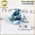 Sfuso vendita all'ingrosso o taglio brillante rotondo blueish sintetico verde 5,5mm moissanite pietra