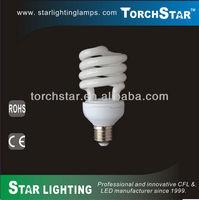 High lumens T3 half spiral ESL E27 20W bulb