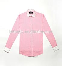 2015 spring men office long sleeve shirt no pocket