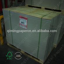 Supplier china duplex paper grey back
