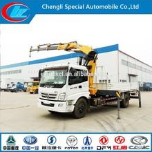 New condition FOTON Truck crane with 2 landing gears 10m 12m 4X2 6 wheels diesel type FOTON truck mounted boom crane