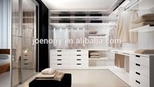 Unique Customized Bedroom Wardrobe Walk-in Closet Design with glass sliding door