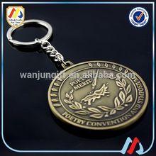 round metal keychain parts models