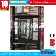 China new design popular sliding window with aluminum frame
