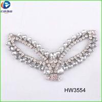 silver rhinestone wing shoe upper accessories for women