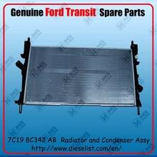 Genuine Transit V348 spare parts 7C19 8C342 AB Radiator and Condenser Assy