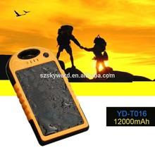 12000mAh High Capacity Waterproof Solar Cell Phone Charger