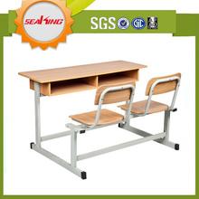 New design Classroom furniture,Double student desk & india school furniture