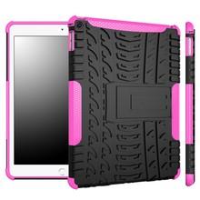 Explosion Proof Case For Ipad Hybrid Dual Kickstand Hard Soft Tpu Protector Case For Ipad 6