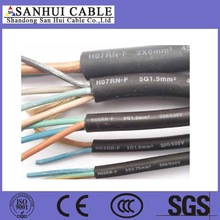 machine use rubber jacket 3 core 2.5mm flexible wire