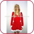 Mujer traje de navidad vestido de fantasía de disfraces de halloween pgfc- 3028