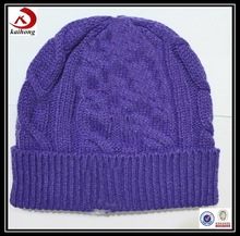 promotional cheap Knit Beanies, custom knit striped beanie