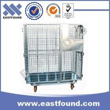 Lockable Foldable Metal Storage Industrial Heavy Load Transfer Trolley 500kg