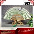 barato de promoción japonés de la mano del ventilador ventilador de bambú de personalizado