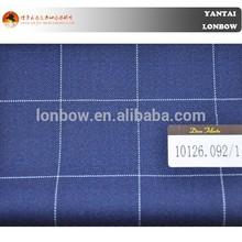 Dino Filarte Italian wool suit fabric blue check suit fabric school uniform design