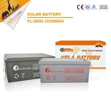 12V 200Ah high quality solar energy storage GEL deep cycle solar battery