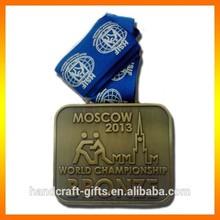Customized bronze world championship medal
