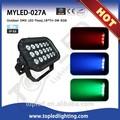 Excelente innovador de mezcla de color dmx 512& ip66 auto runnning18*tri- 3w 60w rgb dmx led al aire libre luz de inundación