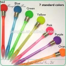 2015 Fancy novelty flashing led light plastic pen in ballpoint pens for children