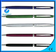 hot sale click style metal ball point pen for office & school