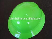 ANP-15: full brim hi-viz green safety helmet with CE EN397