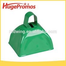 Metal Printing Logo Plain Green Mini Cow Bell