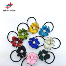 New wholesale alibaba 16cm Elastic Hair Band style with flower beads
