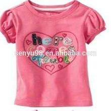 fashion style silk printed 100% cotton children's t-shirt