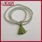 3mm faceted green crystal bracelet ,small beaded bracelet ,Spiral wound hand catenary handmade for female