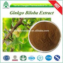 GMP Factory HPLC/UV 100% natural ginkgo biloba leaf extract powder