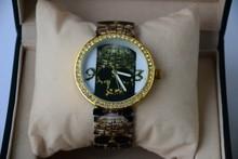 Top quality metal case lady vogue wrist watch