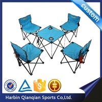 HF9515 easy to install portable camping folding 5 pcs table and chair