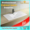 projeto popular de cerâmica integrada retangular pia do banheiro