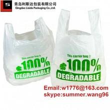 top quality food grade cornstarch biodegradable plastic shopping bag