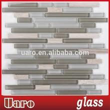 Office Building Strip Tiles,Glass Mix Stone Mosaic Strip