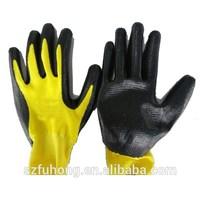 nylon back half nitrile palm coat gloves