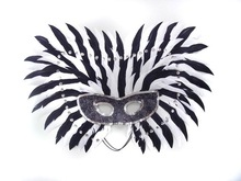 new design feather masquerade eye party mask