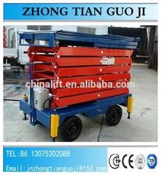 16m 300kg safe and reliable mobile hydraulic scissor lift/cheap car lifts/ever-eternal scissor lift
