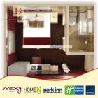 Brownie new design three star modern hotel bedroom furniture
