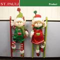 madeira decorações de natal atacado elf subir escada decoração de natal decorativa escada
