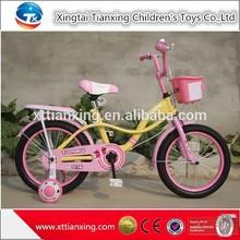 Beautiful Safety Kids Vehicle / 18 Inch Girls Bike With Training Wheel