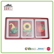 Xiamen supply stocked melamine 3 tier serving divide tray