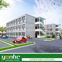 YANHC prefab steel structure hotel building